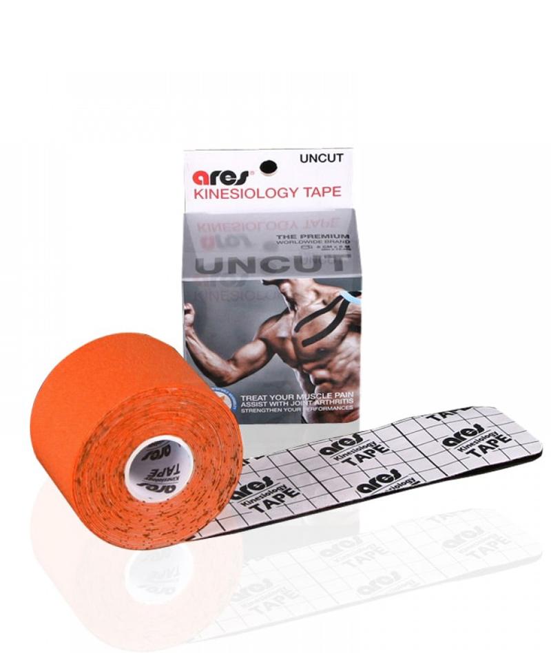 Эластичный Кинезиологический пластырь Арес Анкут 5см*5 м (оранжевый)