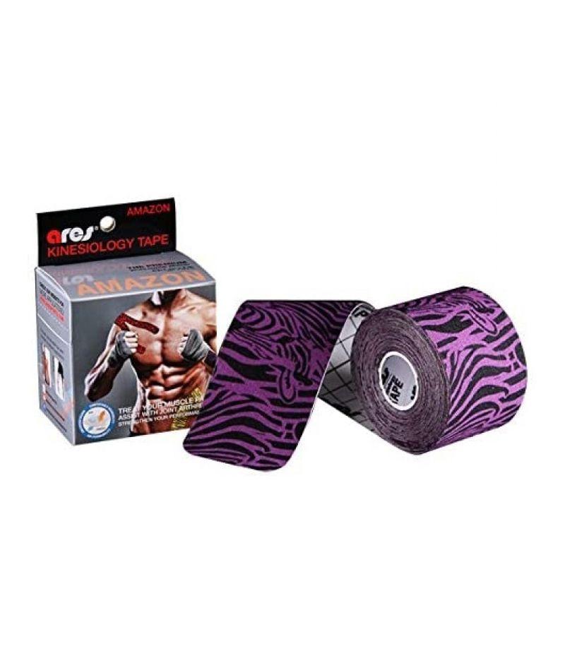 Эластичный Кинезиологический пластырь Арес Амазон 5см*5 м Ares Kinesio Tape Amazon (Zebra)