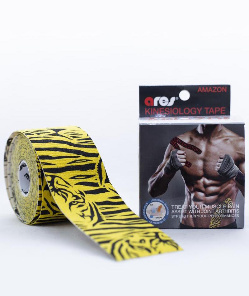 Эластичный Кинезиологический пластырь Арес Амазон 5см*5 м Ares Kinesio Tape Amazon (Tiger)