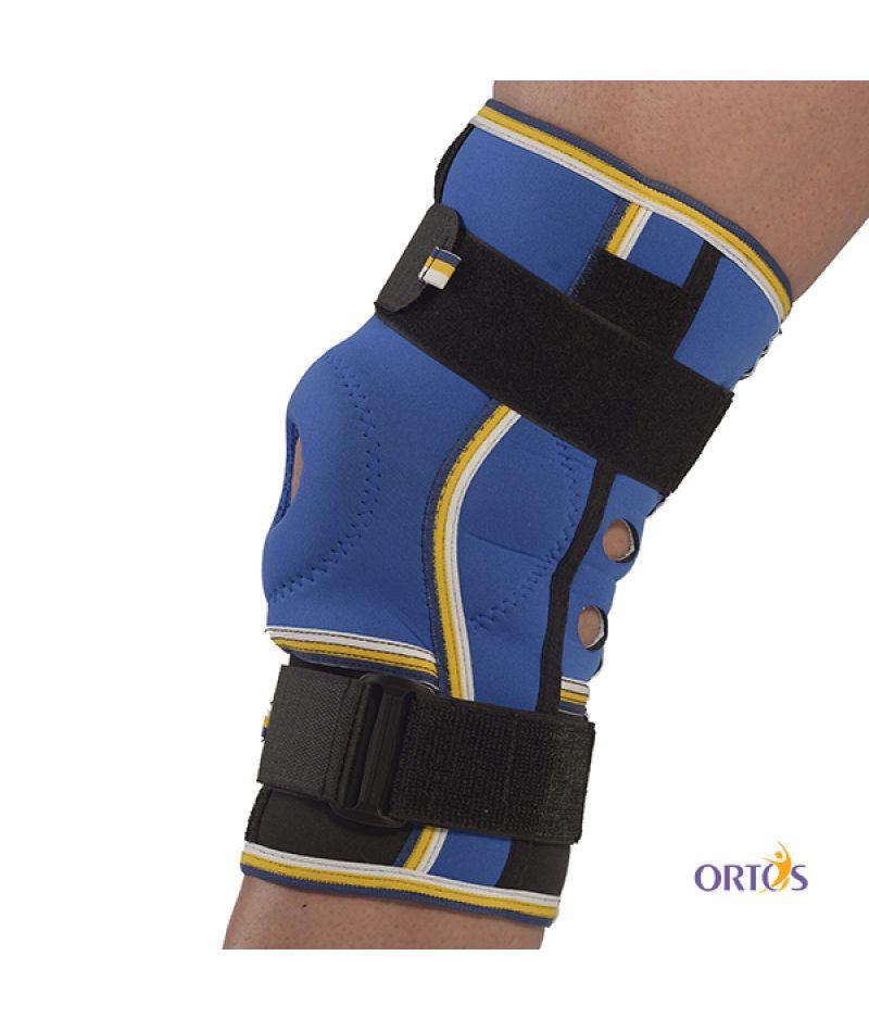 Бандаж коленного сустава с ребрами жесткости неопреновый Алком 4022 - 1