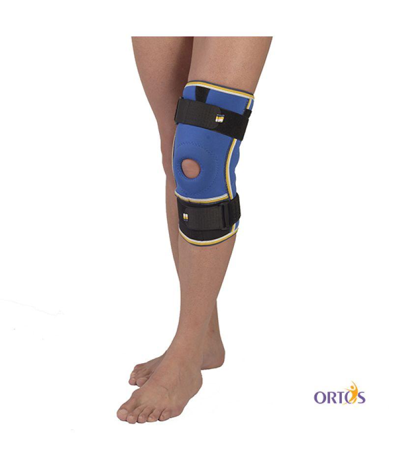 Бандаж коленного сустава с ребрами жесткости неопреновый Алком 4022 - 2