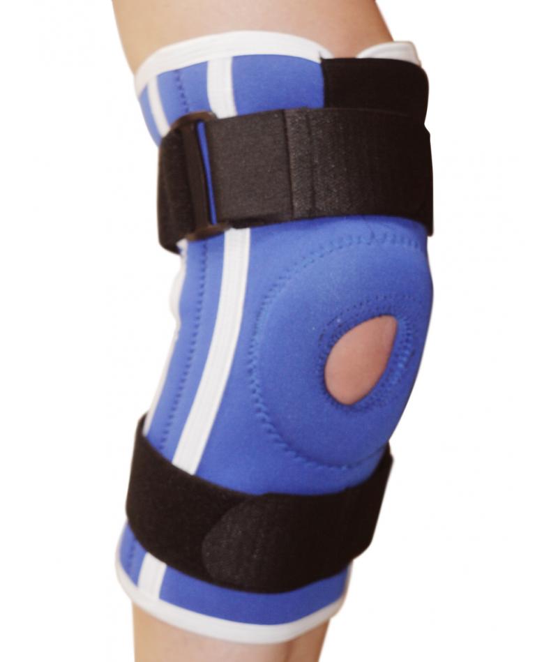 Бандаж коленного сустава неопреновый со спиральными ребрами жесткости Алком 4052 - 1