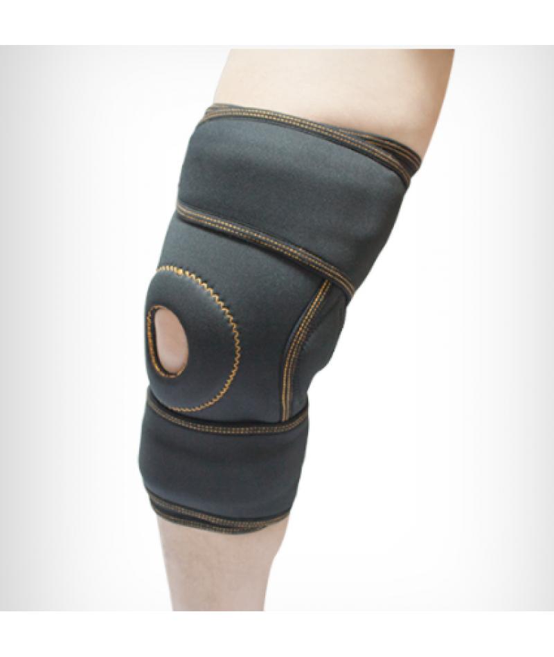 Бандаж коленного сустава неопреновый с ребрами жесткости и силиконовым кольцом «Alkom 4053»