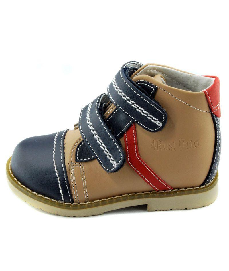 Ботинки демисезонные, темно-синие\бежевые 4Rest Orto 03-401 - 1