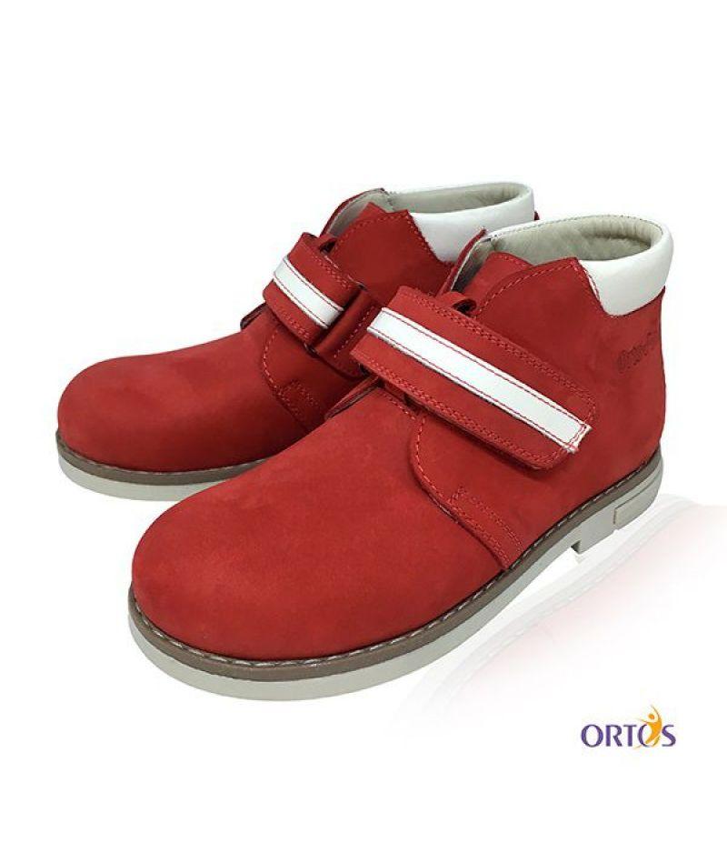Ботинки детские ортопедические ОrtoBaby D9104 цвет красный