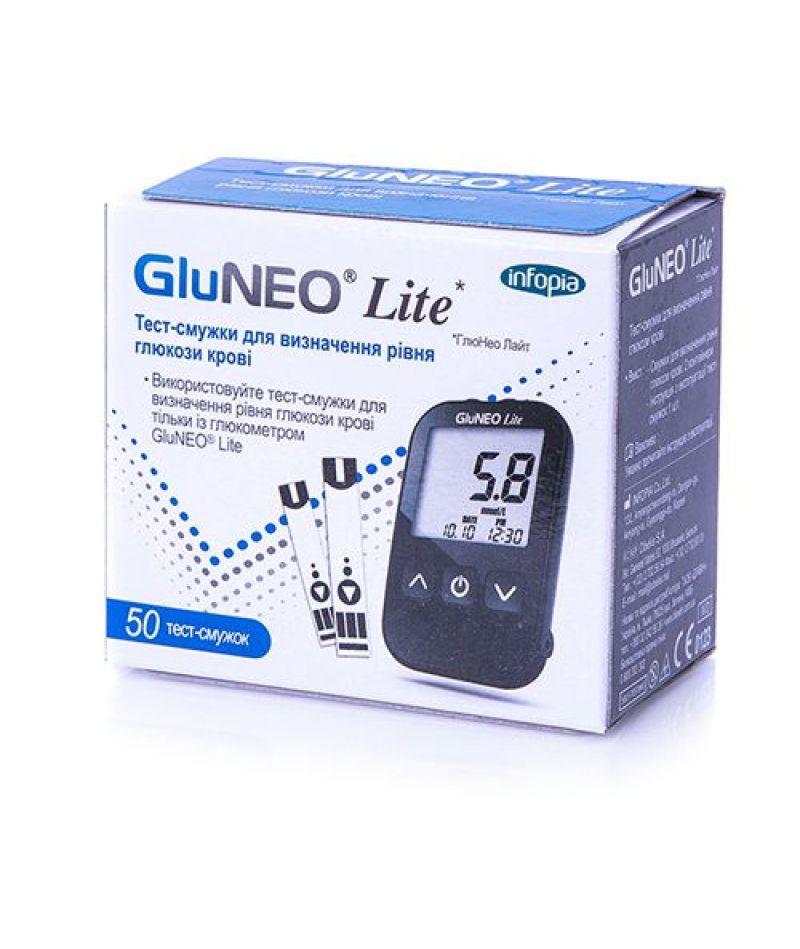 Тест-полоски уровня глюкозы в крови Glu Neo Lite