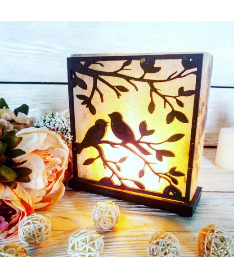 Соляной светильник «Птицы» 3-4кг
