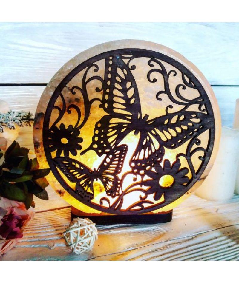 Соляная лампа «Две бабочки» 3-4кг