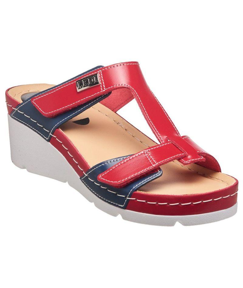 Сандалии женские LEDI 106/6 (синий/красный) размер 40