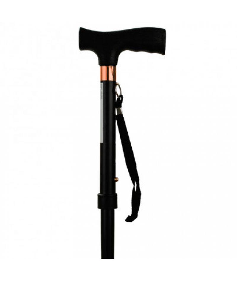 Т-образная алюминиевая трость с пластиковой ручкой, черная OSD-BL560202
