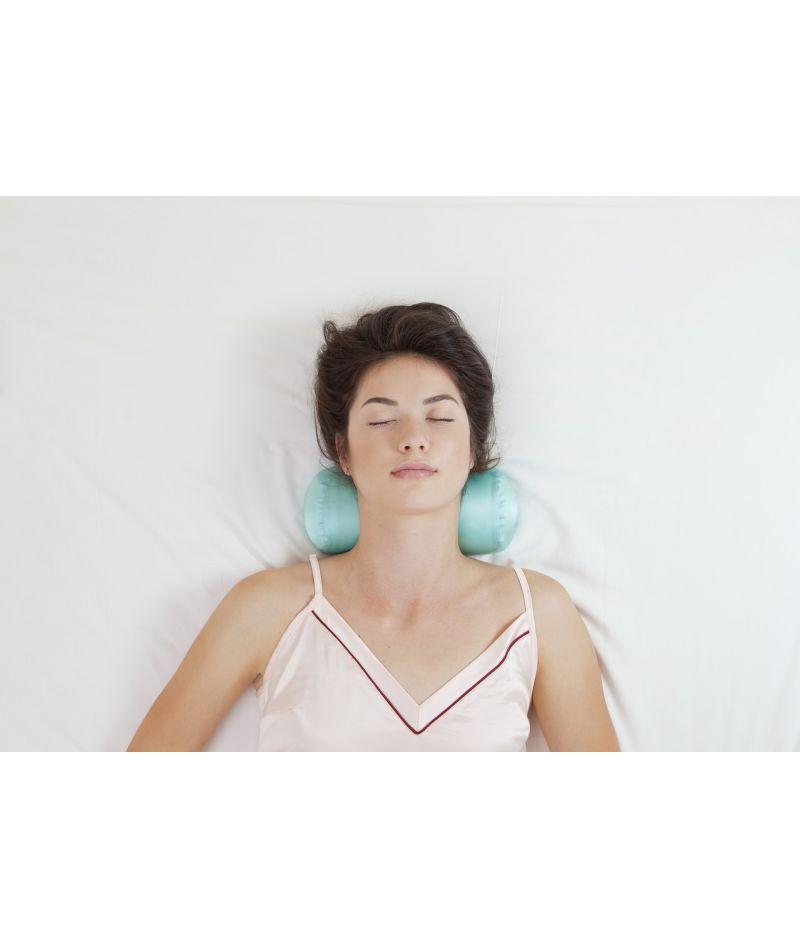 Валик под шею (ШЕЛК) - Ортопедическая подушка Beauty Balance TM пудра - 3