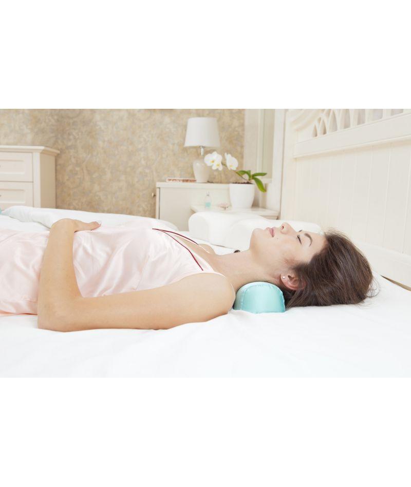 Валик под шею (ШЕЛК) - Ортопедическая подушка Beauty Balance TM пудра - 2