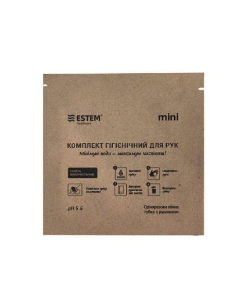 Губка ЕСТЕМ одноразовая пенная с дерматологическим гелем Mini № 1