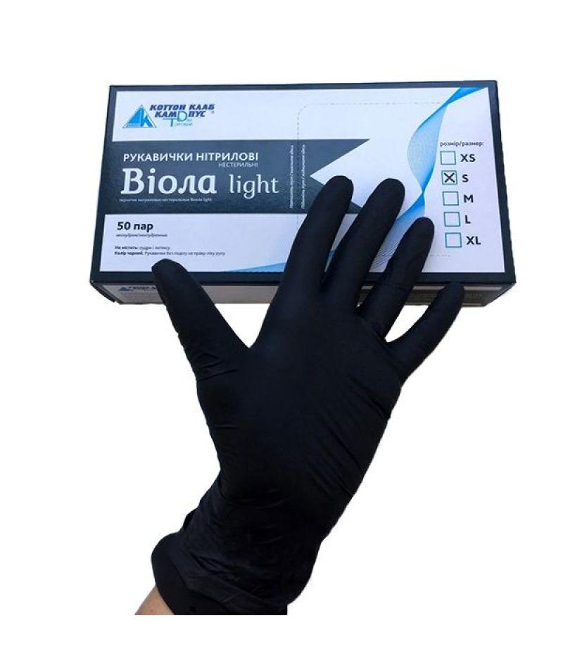 Перчатки нитрилловые нестерильные Виола (1 пара)