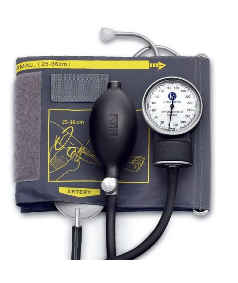 Тонометр Little Doctor механический АО LD-71A фонендоскоп встроенный в манжету, 25-36см
