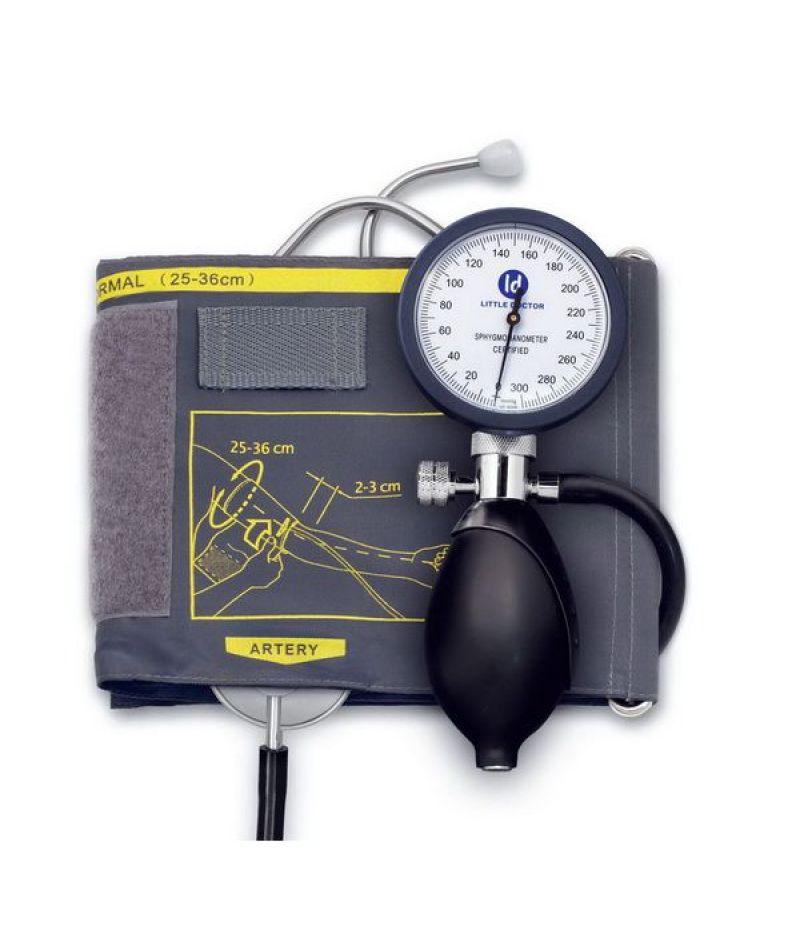 Тонометр Little Doctor механический АО LD-81 фонендоскоп встроенный в манжету, 25-36см