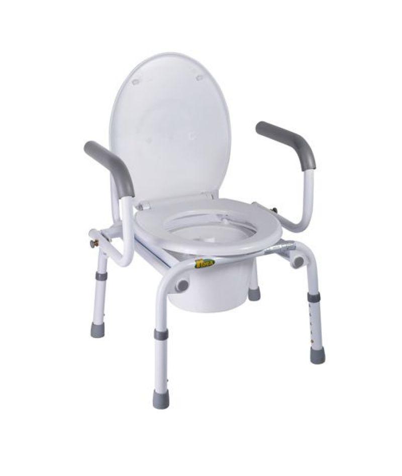 Стілець-туалет з відкидними підлокітниками Nova A8900AD, металл