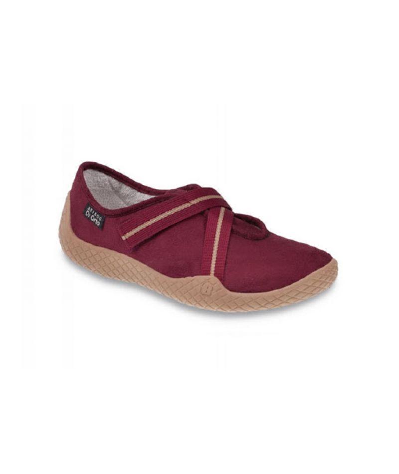 Ортопедические туфли для диабетической стопы DrOrto 197 D003, бордовые
