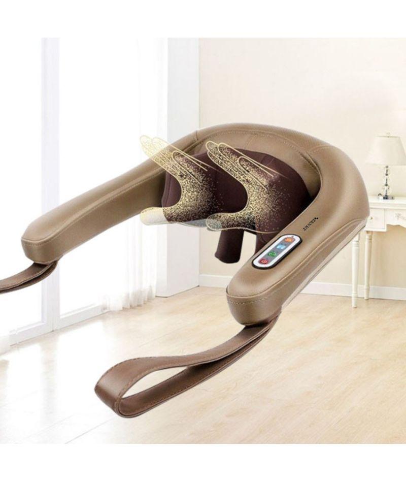 Роликовый массажер Zenet Zet-759 массаж шиацу для шеи, спины и плеч