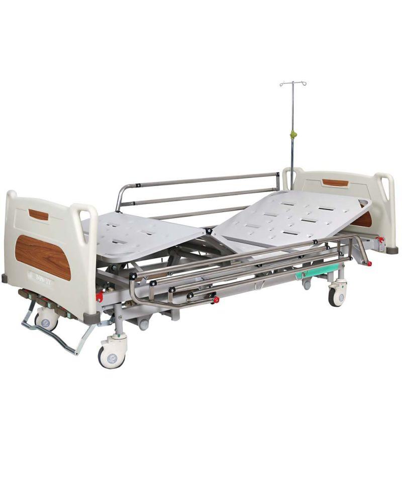 Кровать медицинская механическая с регулировкой высоты (4 секции) OSD-9017